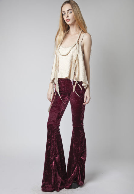 Gigi Burgundy Flair Pant