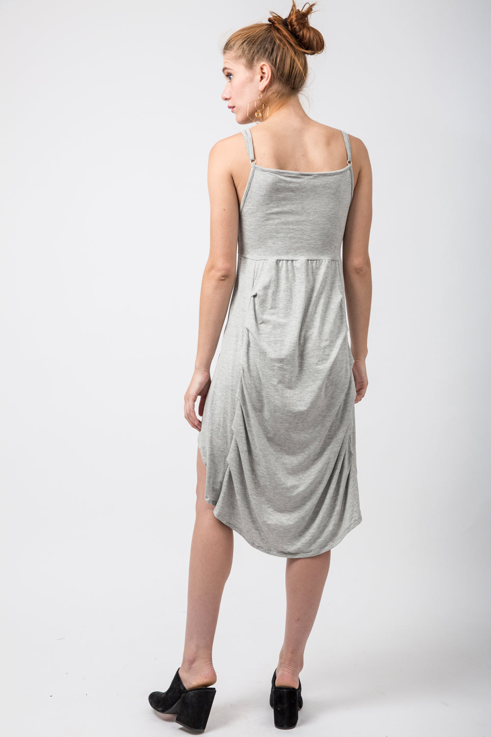Light Grey Hi-Low Tank Dress