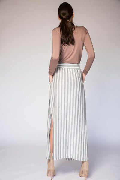Ash Stripe Skirt