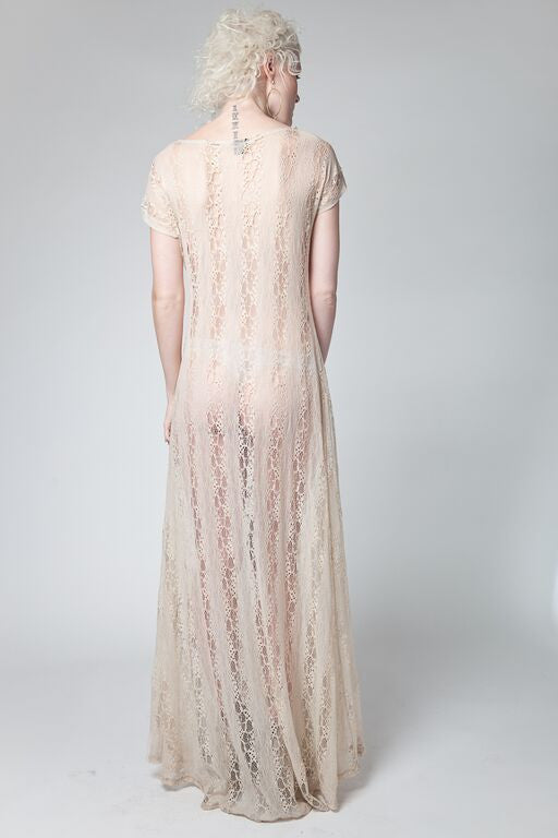 Uma Snake Sheer Lace Dress