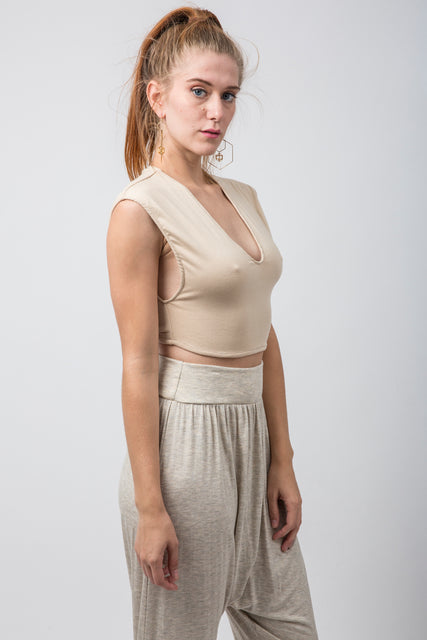 Nude Crop Top