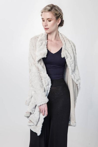 White Cheetah Faux Fur Jacket