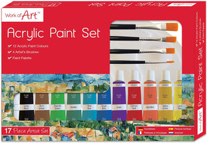 Work of Art Artists Acrylic Set, Multicolour, The Bubble Room Atr and Craft Store Dublin Ireland