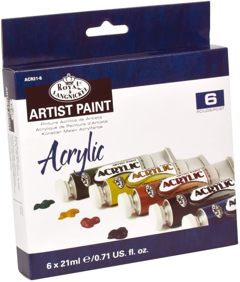 Royal & Langnickel Acrylic Color Artist Tube Paint, 21ml, 6-Pack The Bubble Room Arts and Crafts Dublin