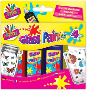 Artbox Glass Set Painting Kit Box of 4 The Bubble Room Art & Craft Store Dublin