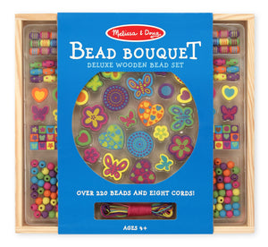Melissa & Doug Bead Bouquet Deluxe Wooden Bead Set The Bubble Room Toy Store Dublin