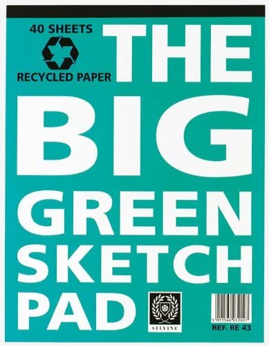 Silvine The Big Green recycled sketch pad 40 sheet The Bubble Room Arts and Crafts Skerries Dublin
