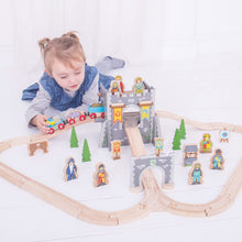 Load image into Gallery viewer, Bigjigs Rail Wooden Medieval Train Set  The Bubble Room Toy Store Dublin