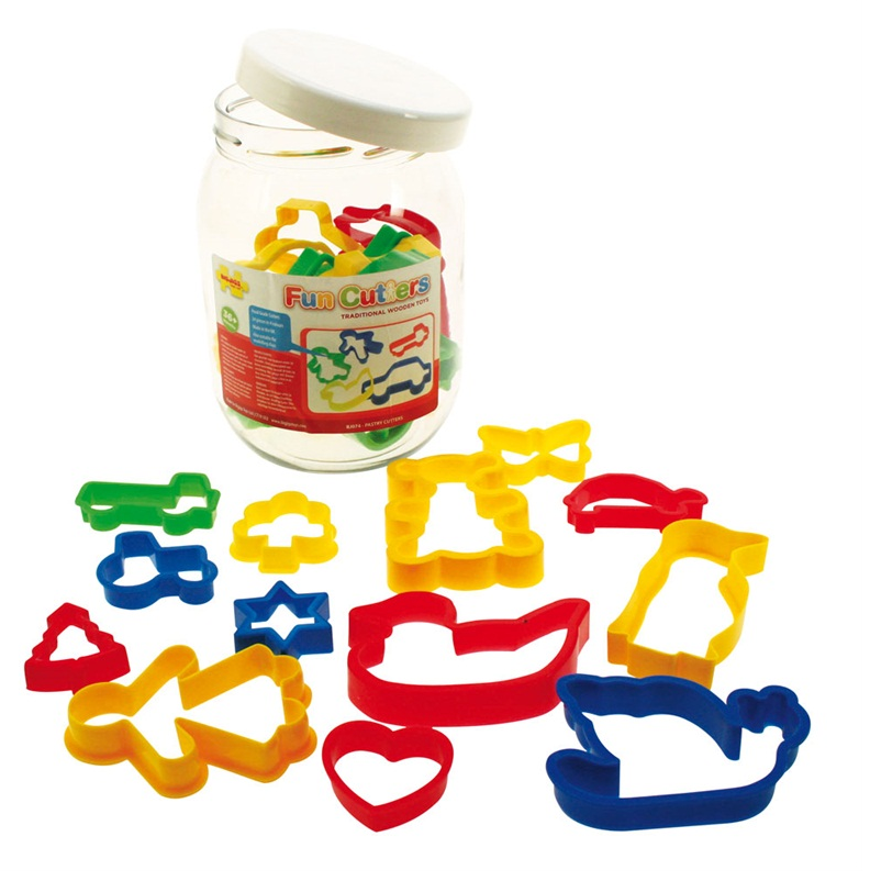 Bigjigs Jar of 24 Pastry Cutters The Bubble Room Toy Store Dublin