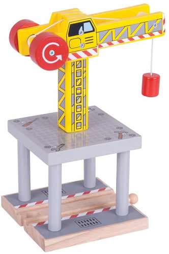 Bigjigs Toys Rail Big Yellow Crane The Bubble Room Toy Store Skerries Dublin