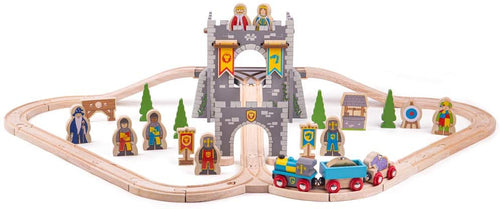 Bigjigs Rail Wooden Medieval Train Set  The Bubble Room Toy Store Dublin