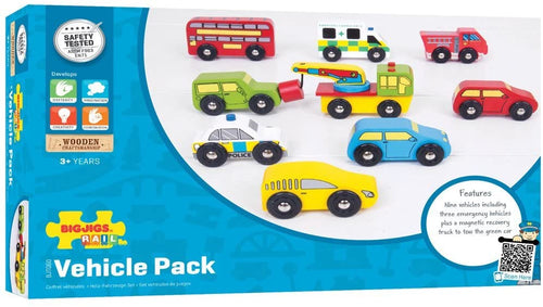 Bigjigs Vehicle Pack The Bubble Room Toy Shop Skerries Dublin