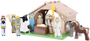 Bigjigs Toys Wooden Nativity Set The Bubble Room Toy Store Dublin