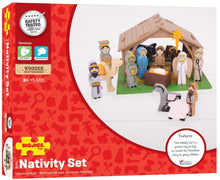 Load image into Gallery viewer, Bigjigs Toys Wooden Nativity Set The Bubble Room Toy Store Dublin