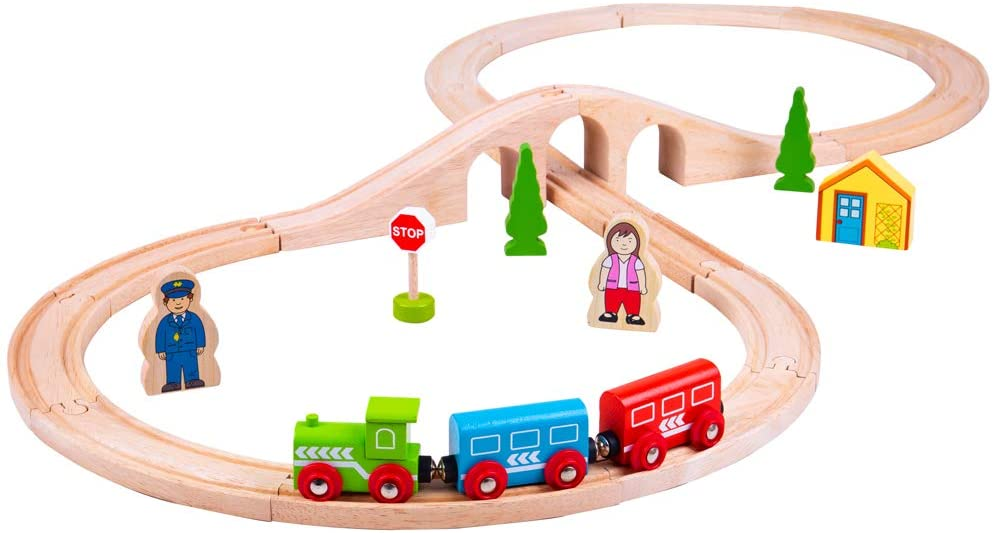 Bigjigs Figure of eight train set The Bubble Room Toy Store Skerries Dublin