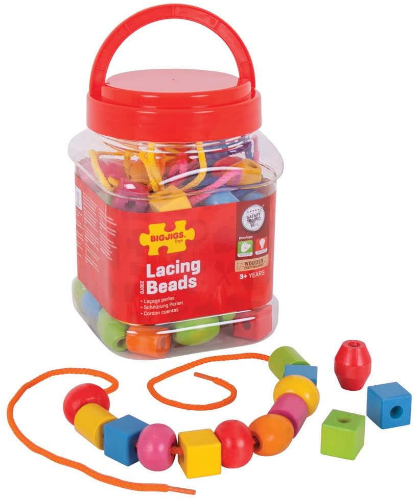 Bigjigs wooden lacing beads The Bubble Room Toy Store Skerries Dublin
