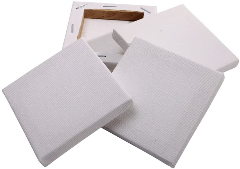 Set of 6  Blank Stretched Mini  Canvases  the Bubble Room Toy Store Dublin