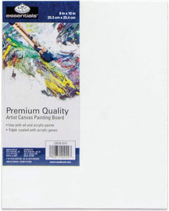 "Royal & Langnickel Single essentials  Canvas Board  8"" x 10"" The Bubble Room Arts and Crafts Dublin"