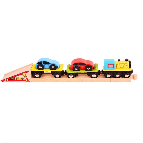 Bigjigs Wooden car loader The Bubble Room Toy Store Dublin