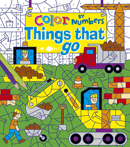 Colour By Numbers Things That Go The Bubble Room Book Store Dublin