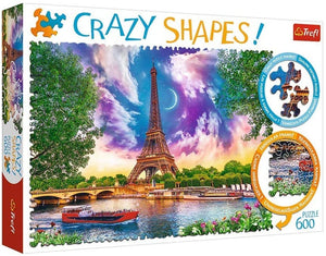 Crazy Shapes Sky over Paris Puzzle 600 piece
