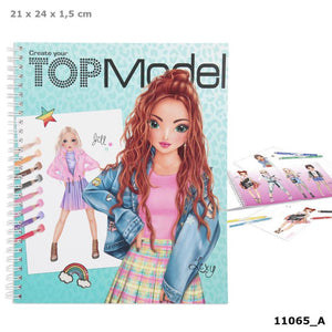 Create your top model colouring book The Bubble Room Dublin