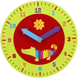 Orange Tree Toys Crocodile Teaching Clock The Bubble Room Toy store Dublin