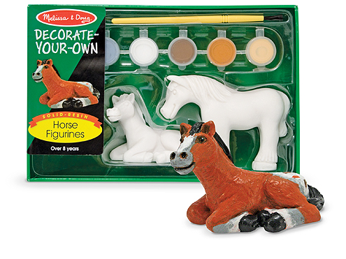 Melissa & Doug Paint Your Own Horse Figurines The Bubble Room Toy Store Dublin