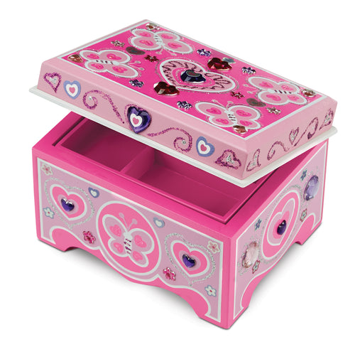 Melissa & Doug Decorate Your Own Wooden Jewellery Box The Bubble Room Toy Store Dublin
