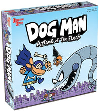 Load image into Gallery viewer, University Games Dog Man Attack of the Fleas Board Game The Bubble Room Toy Store Dublin