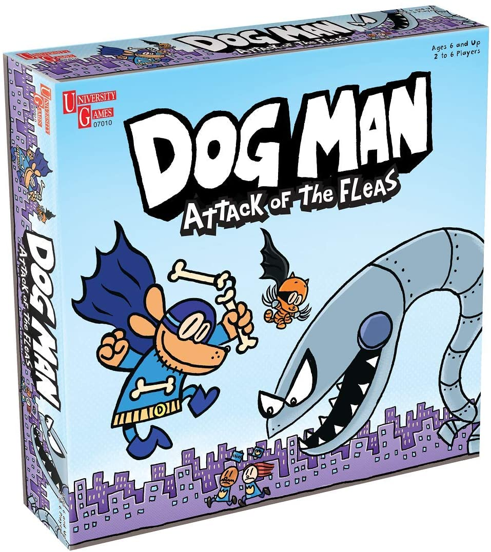 University Games Dog Man Attack of the Fleas Board Game The Bubble Room Toy Store Dublin