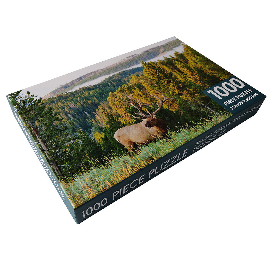 1000 Piece Jigsaw  Morning Elk The Bubble Room Toy Store Dublin