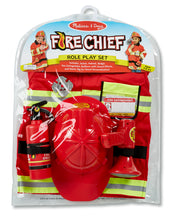 Load image into Gallery viewer, Melissa & Doug Fire Chief Role Play Costume The Bubble Room Toy Store Dublin