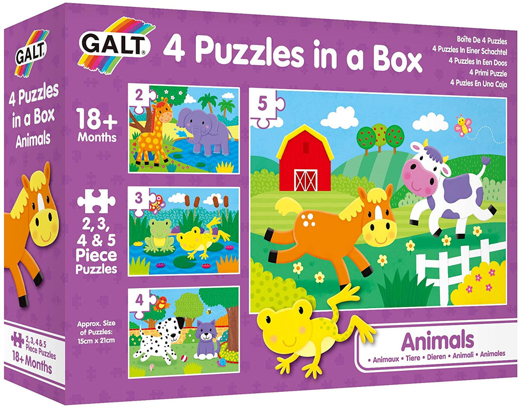 Galt Toys 4 Puzzles in a Box  Animals The Bubble Room Toy Store Dublin