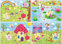 Load image into Gallery viewer, 4 puzzles in a box fairies The Bubble Room Toy Store Dublin