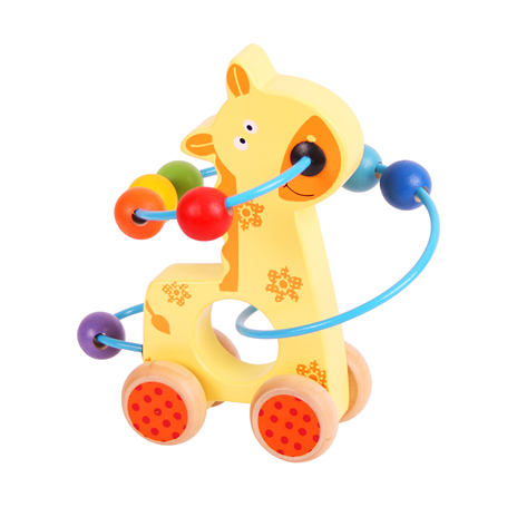 Bigjigs Giraffe Push Along Bead Frame The Bubble Room Toy Store Dublin