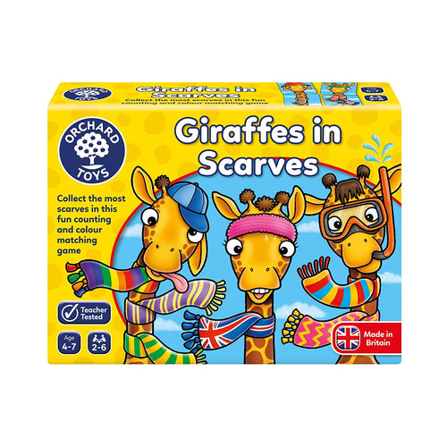 Orchard Toys Giraffes in Scarves The Bubble Room Toy Store Dublin