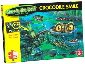 Glow In The Dark Jigsaw Puzzle - Crocodile Smile  The Bubble Toy Store Skerries Dublin