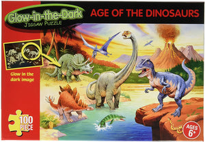Glow in the Dark Age Of Dinosaurs 100 piece puzzle the Bubble Room Toy store skerries dublin