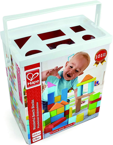 Hape  Wonderful Beech Blocks The Bubble Room Toy Store Skerries Dublin