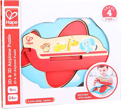 Hape  3D Airplane Puzzle, Multi-Colour The Bubble Room Toy Store Dublin