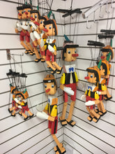 Load image into Gallery viewer, Pinocchio Wooden Marionette Puppet 30cm The Bubble Room Toy Store Dublin