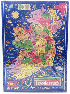 Ireland Map Jigsaw Puzzle by James Hamilton Grovely