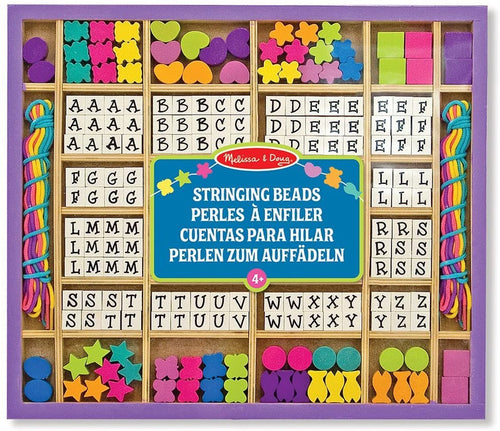 Melissa and Doug Wooden Alphabet Stringing Beads The Bubble Room Toy Store Dublin