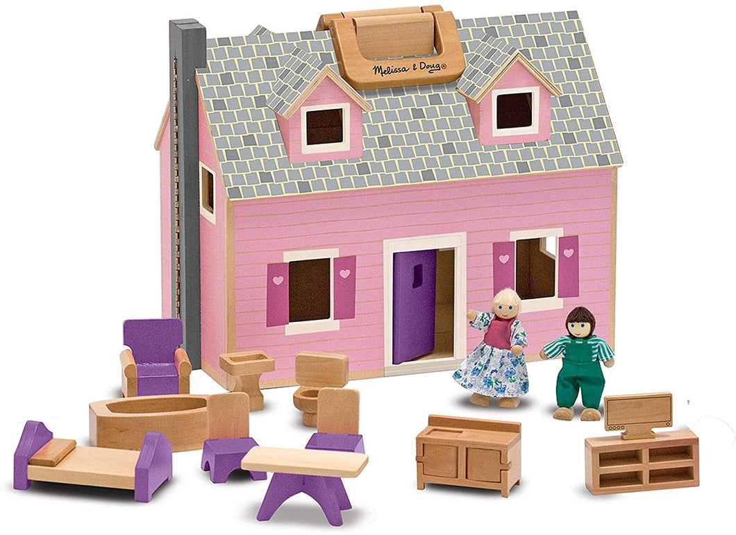 Melissa & Doug Fold & Go Mini Dollhouse The Bubble Room Toy Store Dublin