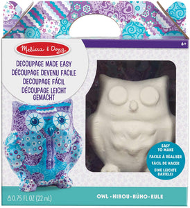 Melissa & Doug Decoupage Owl The Bubble Room Toy Store Dublin