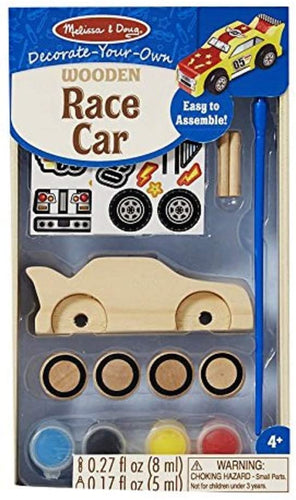 Melissa & Doug Created by Me! Race Car Wooden Craft Kit The Bubble Room Toy Store Dublin