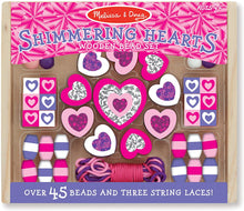 Load image into Gallery viewer, Melissa & Doug  Shimmering Hearts Wooden Bead Set The Bubble Room Toy Store Dublin