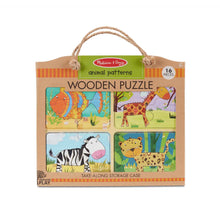 Load image into Gallery viewer, Melissa & Doug Natural Play Wooden Puzzle Animal Patterns The Bubble Room Toy Store Dublin