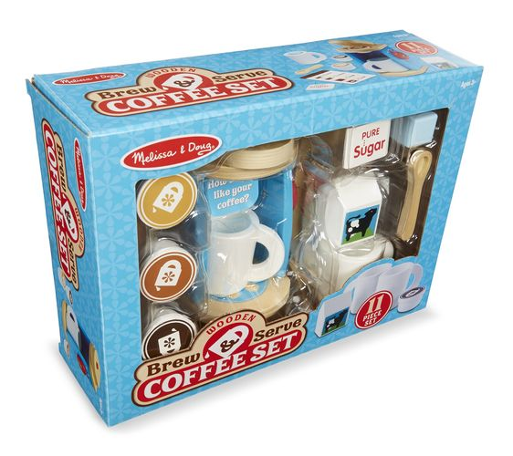 Melissa & Doug Wooden Brew & Serve Coffee Set the Bubble Room Toy Store Dublin